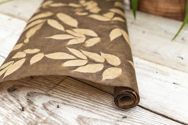 Geschenkpapier mit Muster braun