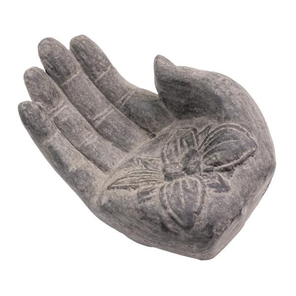 Räucherstäbchenhalter Hand, grau