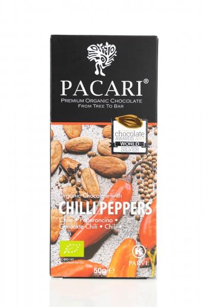Pacari Bio Schokolade Chili, 50g