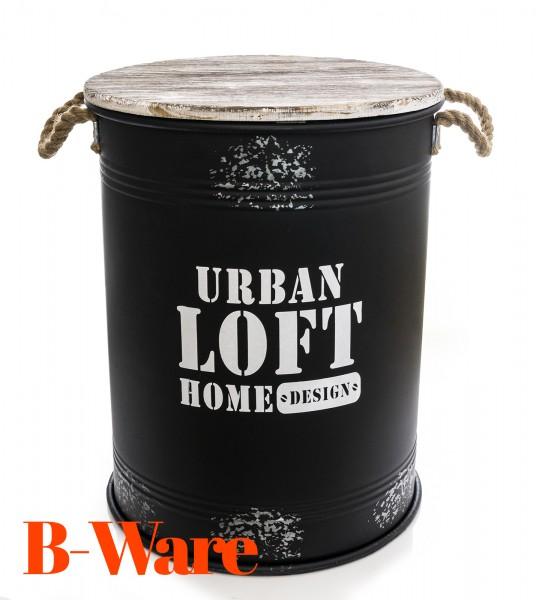 B-Ware Urban Loft Sitztonne mit Stauraum schwarz L