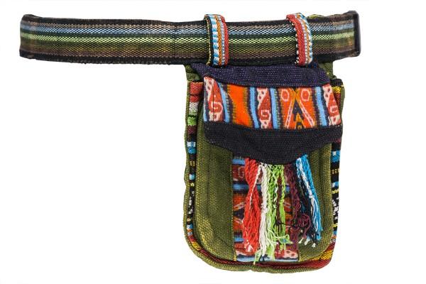 Hüfttasche bunt mit Muster und Fransen