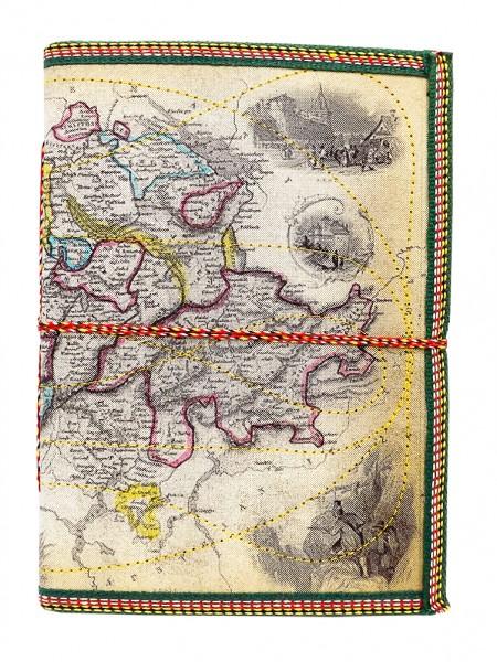 Notizbuch / Zeichenbuch Landkarte