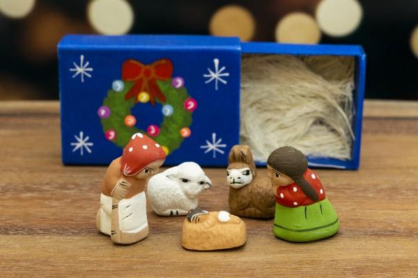 Krippe Ton klein Weihnachten