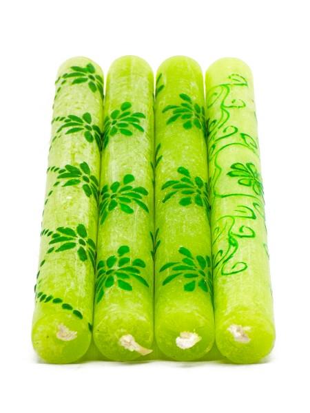 Stabkerze Frosted, grün