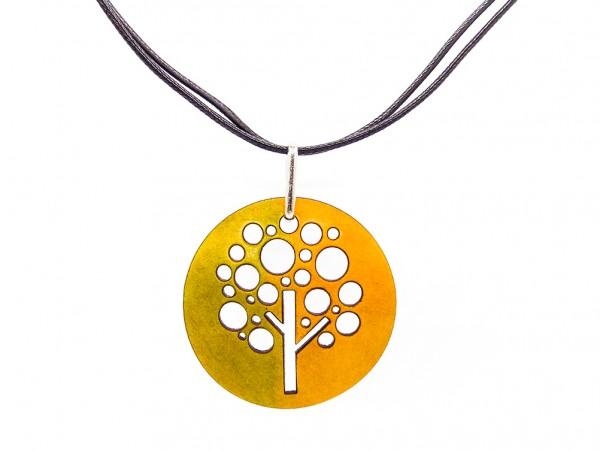 """Halskette """"Tree"""", grün/gelb"""