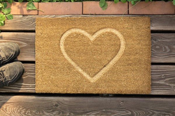 Fußmatte, Herz