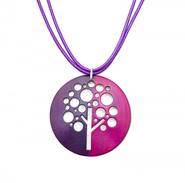 "Halskette ""Tree"", lila"