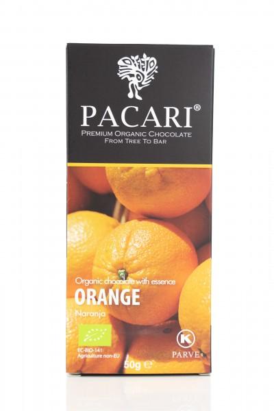Pacari Bio Schokolade Orange, 50g