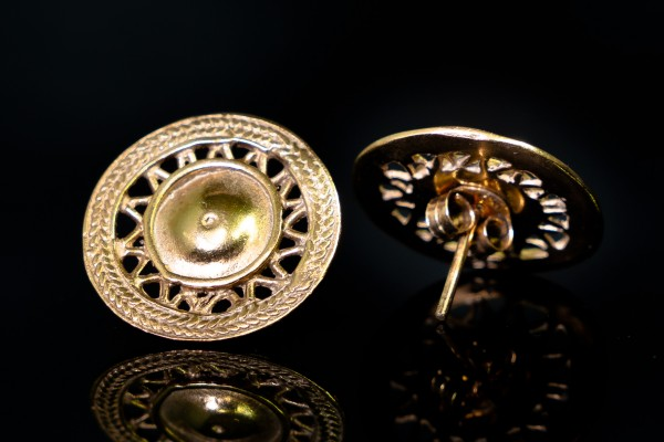 "Ohrstecker ""Solaya"", 925er Silber vergoldet"