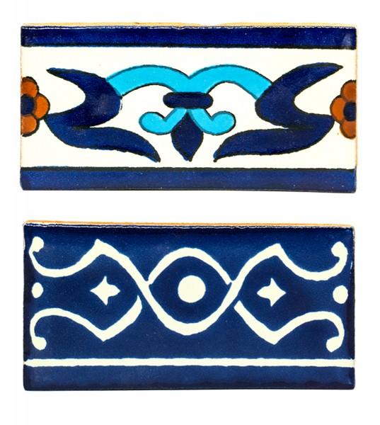 Fliese Bordüre 5 x10 cm, verschiedene Motive