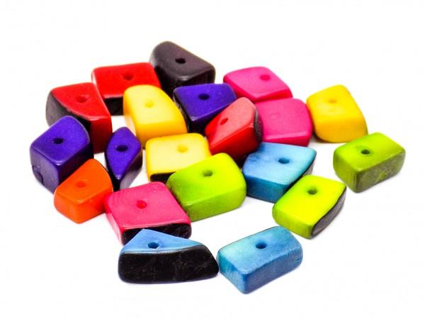 Tagua-Bits bunt, 20 Stück