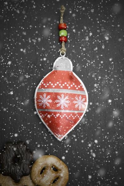 Baumschmuck Weihnachten rot