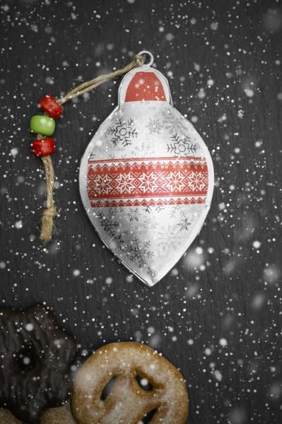 Baumschmuck Weihnachten rot-silber