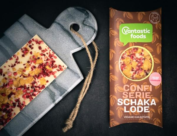 Vantastic Foods Schakalode weisse Crisp Erdbeer vegan, 80g