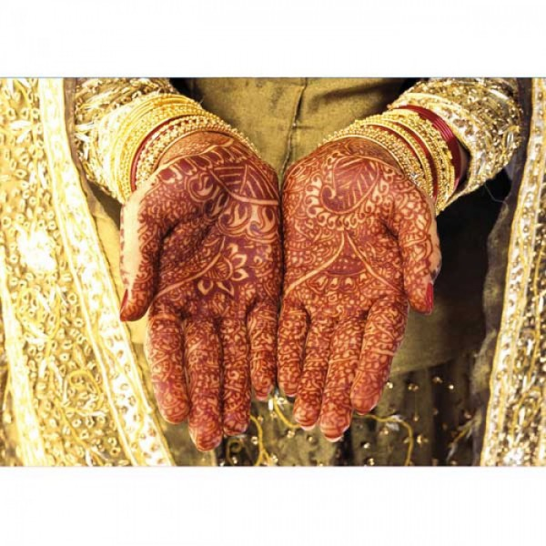 Grußkarte Henna