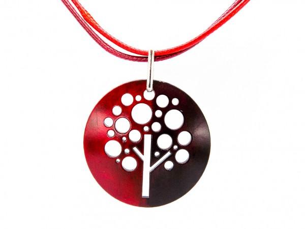 """Halskette """"Tree"""", rot/schwarz"""