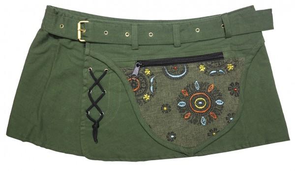 Goa Wickelrock grün mit Tasche
