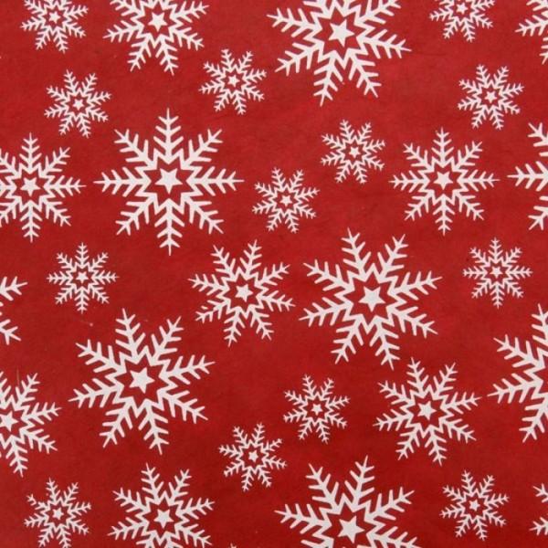 handgeschöpftes Geschenkpapier, Crystals rot-weiß