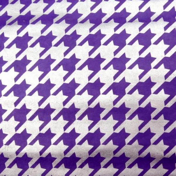 handgeschöpftes Geschenkpapier, lila-silber