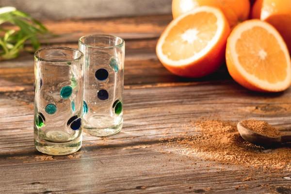 Tequila-Gläser 2er Set, Farbpunkte