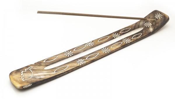 Räucherstäbchenhalter Holz weiß